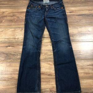 Big Star Dark Denim 6wlivts Boot Cut Jeans 30L